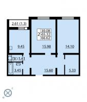 Двухкомнатные квартиры в «Калейдоскоп»