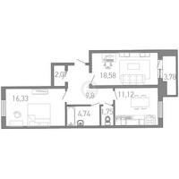 Двухкомнатные квартиры в «Капитан Немо»