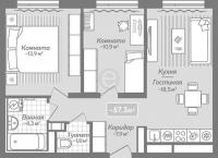 Двухкомнатные квартиры в «Коллонтай,2»