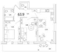 Двухкомнатные квартиры в «Кремлёвские звёзды»