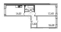 Двухкомнатные квартиры в «Ленинградская перспектива»