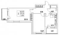 Двухкомнатные квартиры в «Life Приморский»