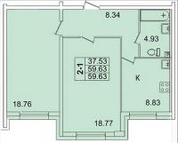 Двухкомнатные квартиры в «Лондон парк»