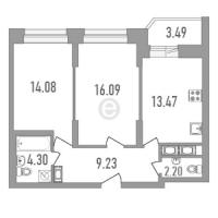 Двухкомнатные квартиры в «Медалист»