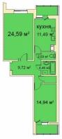 Двухкомнатные квартиры в «Медный всадник»