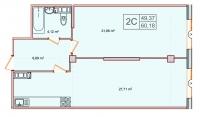 Двухкомнатные квартиры в «Парнас»