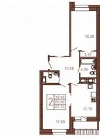 Двухкомнатные квартиры в «Московский квартал»