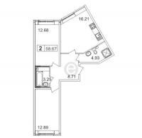 Двухкомнатные квартиры в «Муринский Посад»