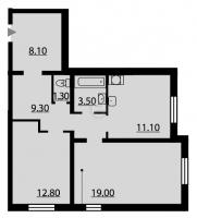 Двухкомнатные квартиры в «Новая Охта»