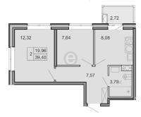 Двухкомнатные квартиры в «Новоорловский»