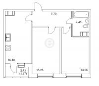 Двухкомнатные квартиры в «Новые горизонты»