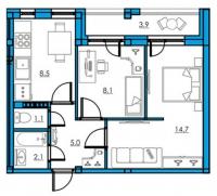 Двухкомнатные квартиры в «Орже»