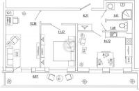 Двухкомнатные квартиры в «Петр Великий и Екатерина Великая»