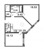 Двухкомнатные квартиры в «Петровская ривьера»