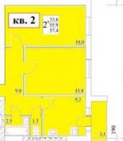 Двухкомнатные квартиры в «Петровское»