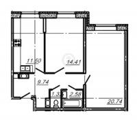 Двухкомнатные квартиры в «Подкова»