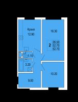 Двухкомнатные квартиры в «Полководец»