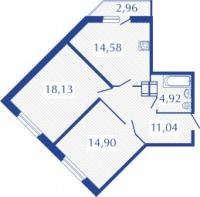Двухкомнатные квартиры в «Прогресс»