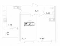Двухкомнатные квартиры в «Пулковский-3»