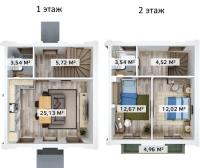 Двухкомнатные квартиры в «Счастье»