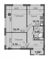 Двухкомнатные квартиры в «Силы природы»
