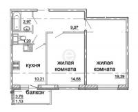 Двухкомнатные квартиры в «Солнечный»