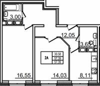 Двухкомнатные квартиры в «Созвездие»