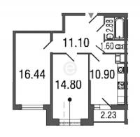 Двухкомнатные квартиры в Time («Тайм»)