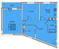Двухкомнатные квартиры в «Дом на Тамбовской»