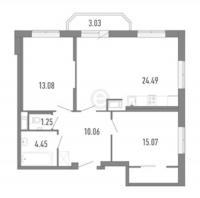Двухкомнатные квартиры в «Три кита»