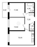 Двухкомнатные квартиры в «Трилогия»