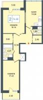 Двухкомнатные квартиры в «Триумф-Парк»