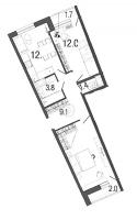 Двухкомнатные квартиры в Ultra City («Ультра Сити»)