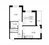 Двухкомнатные квартиры в «Вернисаж»