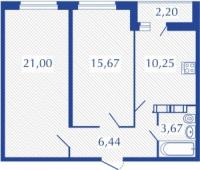 Двухкомнатные квартиры в «Виктория»