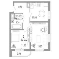 Двухкомнатные квартиры в Vitamin («Витамин»)