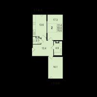 Двухкомнатные квартиры в «Жемчужный берег»