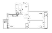 Двухкомнатные квартиры в «Золотое время»