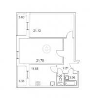Двухкомнатные квартиры в «Золотой век»