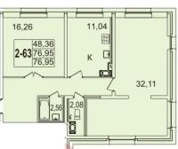 Двухкомнатные квартиры в «Звездный»