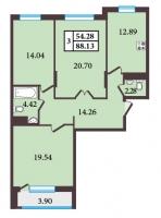 Трехкомнатные квартиры в «Александровский»
