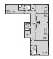 Трехкомнатные квартиры в «ArtStudio»