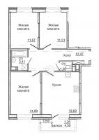 Трехкомнатные квартиры в «Астрид»