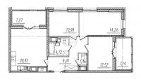 Трехкомнатные квартиры в «BauHaus»