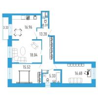Трехкомнатные квартиры в «Богатырь-3»