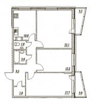 Трехкомнатные квартиры в «Брусничный - 1, 2, 3»