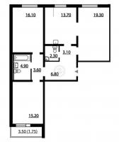 Трехкомнатные квартиры в «Цивилизация»