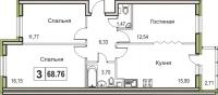Трехкомнатные квартиры в «Цвета радуги»