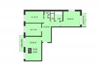 Трехкомнатные квартиры в «Цветы»