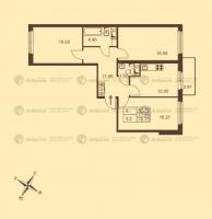 Трехкомнатные квартиры в «Добрыня»